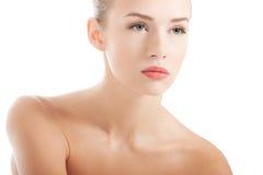 Schöne Badekurortfrau lizenzfreie stockbilder