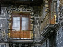 Schöne Balkone lizenzfreies stockbild