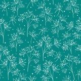 Schöne beige Linie Blumen Stockbild