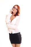 Schöne beiläufige junge Frau Lizenzfreies Stockbild