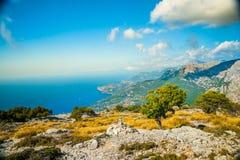 Schöne Berge auf dem Westteil von Mallorca-Insel, Spai Lizenzfreie Stockfotos
