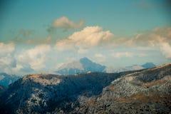 Schöne Berge auf dem Westteil von Mallorca-Insel, Spai Stockfotografie