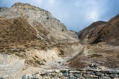 Schöne Berglandschaft in der Nähe von Muktinath, Nepal Lizenzfreies Stockfoto