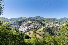 Schöne Berglandschaft von Bulgarien- - Rodopite-Berg Stockfoto