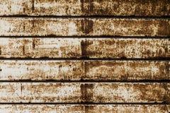 Schöne Beschaffenheit des Schmutzes Rusty Stripes Wall horizontal Patt Stockbilder