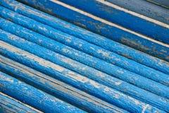 Schöne Beschaffenheit von hölzernen Latten der blauen Farbe Lizenzfreie Stockfotografie