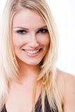 Schöne bezaubernde lächelnde blonde Frau Lizenzfreies Stockfoto