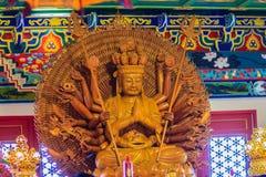 Schöne Bilder von Guanyim oder Guan Yin, chinesischer Gott auf Chinesisch Lizenzfreies Stockbild