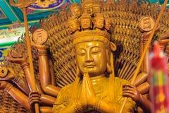 Schöne Bilder von Guanyim oder Guan Yin, chinesischer Gott auf Chinesisch Stockfotografie