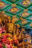 Schöne Bilder von Guanyim oder Guan Yin, chinesischer Gott auf Chinesisch Stockbilder