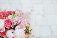 Schöne blühende Blumen stockbild