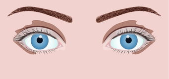 Schöne blaue Augen Lizenzfreies Stockfoto