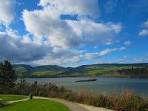 Schöne blaue Himmel-Oregon-Landschaft stockfotografie