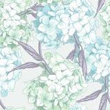 Schöne blaue Hortensie-nahtloser Hintergrund Lizenzfreies Stockbild
