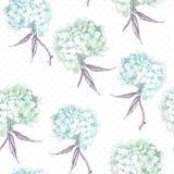 Schöne blaue Hortensie-nahtloser Hintergrund Stockbilder