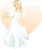 Schöne blonde Braut Stockfotografie