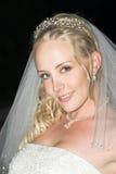 Schöne blonde Braut stockbild