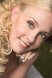 Schöne blonde Braut Stockfotos