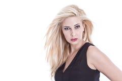 Schöne blonde Dame Stockfoto