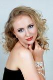 Schöne blonde Frau Stockbilder