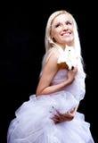 Schöne blonde Frau Stockfoto
