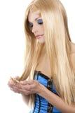 Schöne blonde Frau Lizenzfreies Stockbild