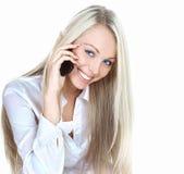 Schöne blonde Frau   Lizenzfreie Stockbilder