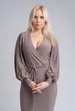 Schöne blonde Frau Stockfotografie
