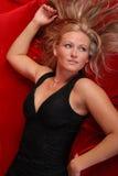 Schöne blonde Frau. Stockfotos