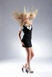 Schöne blonde Frau der Art und Weise Lizenzfreies Stockbild