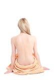 Schöne blonde Frau mit vollkommener Karosserie Lizenzfreies Stockbild