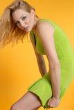 Schöne blonde Frauen Stockfoto