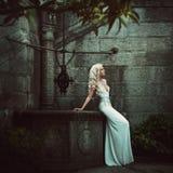 Schöne blonde Frauen. Mode Stockbilder
