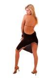 Schöne blonde Frauenaufstellung Stockfotos