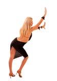 Schöne blonde Frauenaufstellung Lizenzfreie Stockfotos