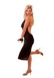 Schöne blonde Frauenaufstellung Lizenzfreies Stockbild