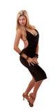 Schöne blonde Frauenaufstellung getrennt Stockfoto