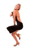 Schöne blonde Frauenaufstellung getrennt Stockfotografie