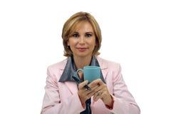 Schöne blonde Geschäftsfrau Stockbild