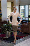 Schöne blonde Geschäftsfrau Stockbilder