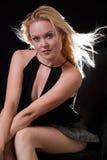 Schöne blonde Jahrkaukasierfrau Lizenzfreies Stockbild