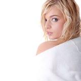 Schöne blonde jugendlich Frau Stockfotos