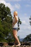 Schöne blonde Jugendliche Stockbild