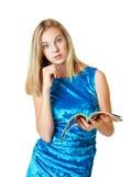 Schöne blonde Jugendliche Stockfoto