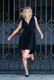 Schöne blonde junge Frau Stockbilder