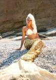 Schöne blonde Meerjungfrau Stockbild