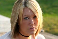 Schöne blonde Nahaufnahme Stockfoto