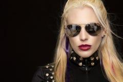 Schöne blonde Schauspielerin und Modell Windy West Stockbild
