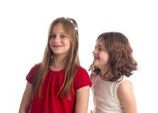 Schöne blonde Schwestern lokalisiert Lizenzfreie Stockfotografie