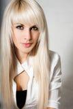 Schöne Blondine Stockfoto